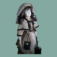 Early Antique Papier-Mache Doll