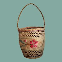 Miniature Antique Doll Basket
