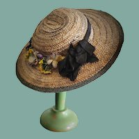 Lovely Antique Doll Straw Hat