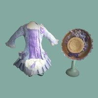 Lovely Antique Doll Bonnet and Dress