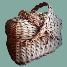 Lovely French Antique Doll Basket