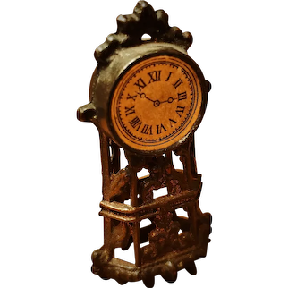 Antique French Doll House Clock