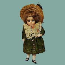 Miniature German All-Bisque Antique Doll