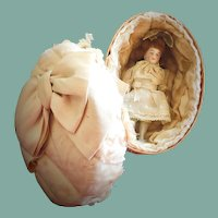 Antique All-Bisque German Doll in a Presentation Box