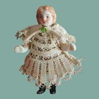Antique German Miniature All-Bisque Doll