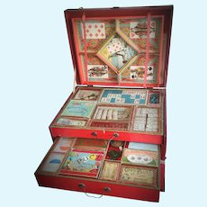 "Antique French ""Jeux"" Games Compediam"