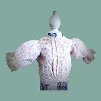 Wonderful Antique Biedermeier Doll Blouse