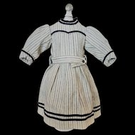 Gorgeous Antique Woolen Dress for a French or German Bebe