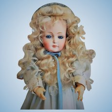 RARE Beautiful German Bisque Glass-eyed (!) Character Child by Kestner (mold 182, circa 1912)