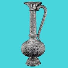Indian 900/1000  Kutch silver large ewer
