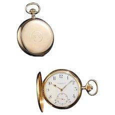 Antique Vacheron & Constantin 14kt gold pocket watch, Retailed BY CARL RANCH, Circa 1918