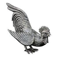 Vintage sterling silver Irish cockerel figurine