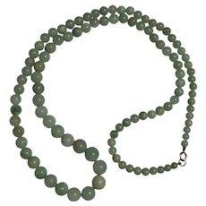 Art Deco Jade Beads