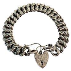 Edwardian 9 Karat Gold Chunky Charm Bracelet