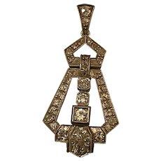 Art Deco Diamond Set Pendant