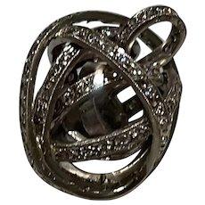 18 Karat Gold and Diamond Lovers Knot Pendant