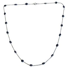 Sapphire 18k White Gold Necklace