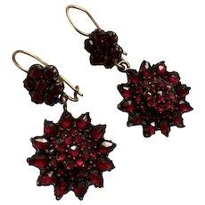Bohemian Garnet Antique Earrings