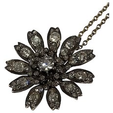 Victorian Diamond Daisy Pendant