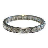 1ct Diamond Platinum Antique Eternity Ring