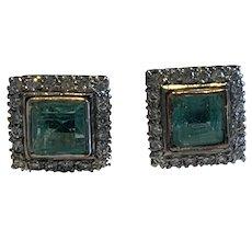 1940s Platinum and Diamond Earrings