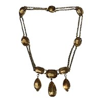 Imperial Topaz Antique Georgian Necklace