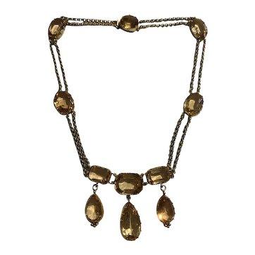 Antique Georgian Topaz Necklace