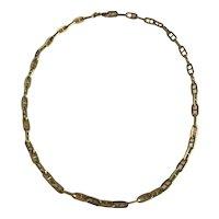 Fancy Link 18 Karat Gold Necklace