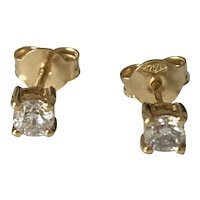 0.5ct Diamond 18k Gold Stud Earrings