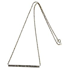 Art Deco Diamond Bar Brooch Conversion Necklace Platinum