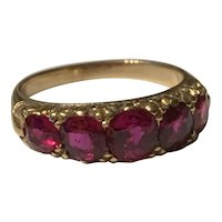 A Natural Unheated Ruby Victorian Ring