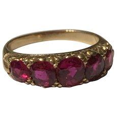 A Natural  Ruby 18 Karat Gold Victorian Ring