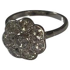 Diamond 1930s Flowerhead Ring