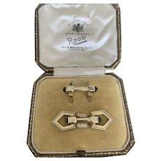 Art Deco Gold and Onyx Cufflinks