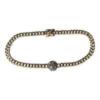Old European Cut Diamond Gold Bracelet