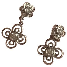 Diamond Flowerhead Earrings 18 Karat
