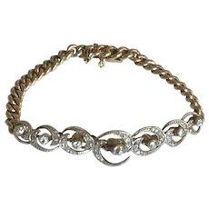 Victorian Diamond Crescent Bracelet