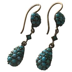 Turquoise Victorian Earrings
