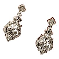 Edwardian Style Diamond Earrings