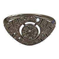 Art Deco Style Diamond Dress Ring