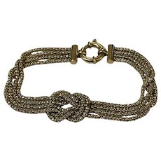 Lovers Knot Bracelet 9 Karat Gold