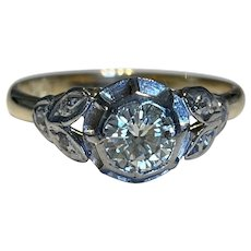Art Deco 0.8ct diamond Ring