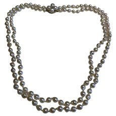 Saltwater Cultured Pearl and Diamond Necklace