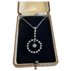 Edwardian Platinum and Diamond Negligee Necklace