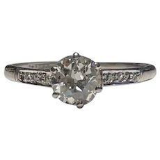 Art Deco 1.1ct Diamond Ring