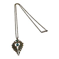 Edwardian Pearl and Turquoise Pendant