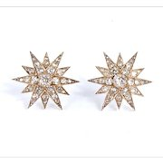 Victorian Diamond Star Earrings
