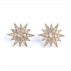 Victorian Diamond Star Earrings