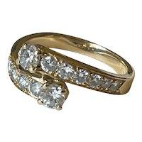 1.2ct Diamond 18 Karat Gold French Ring