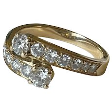 1.2ct Diamond 18 Karat Gold French Ring